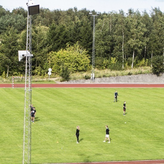 Banner Fodbold på stadion