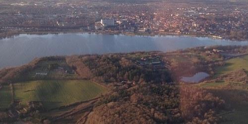 Luftfoto og Idrætshøjskolen Viborg