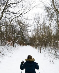 ski, idrætshøjskolen viborg, i skoven, højskole