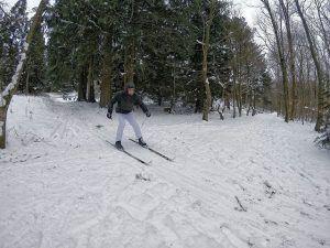 ski, idrætshøjskolen Viborg, i skoven