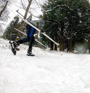 ski,langrend, idrætshøjskolen viborg, skov, sne