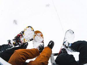 skitur, rejser, idrætshøjskolen viborg, snowboard, i liften