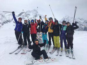 Skitur, rejser, idrætshøjskolen Viborg, ski, snowboard