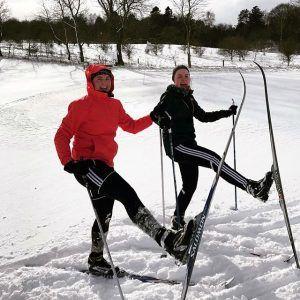 ski, langrend, idrætshøjskolen viborg, højskole, sne i danmark