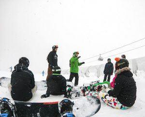 skitur, rejer, idrætshøjskolen viborg, snowboard, undervisning